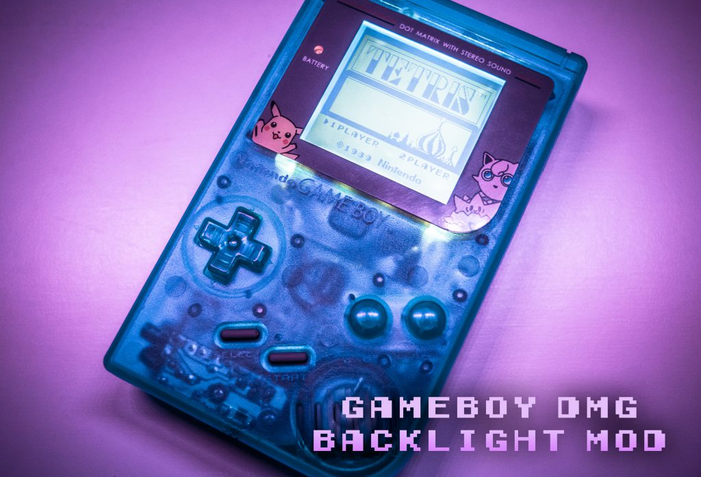 Gameboy backlight and bivert mod