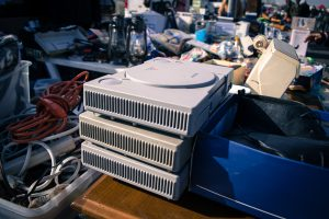 Stacked Sone Playstation 1's